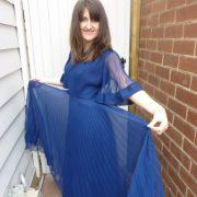 70s_pleated_dark_blue_chiffon_dress1