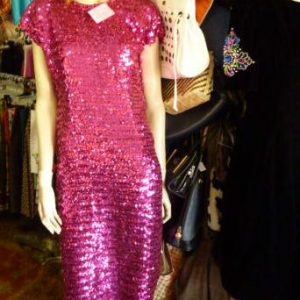 80s_hot_pink_sequin_dress1